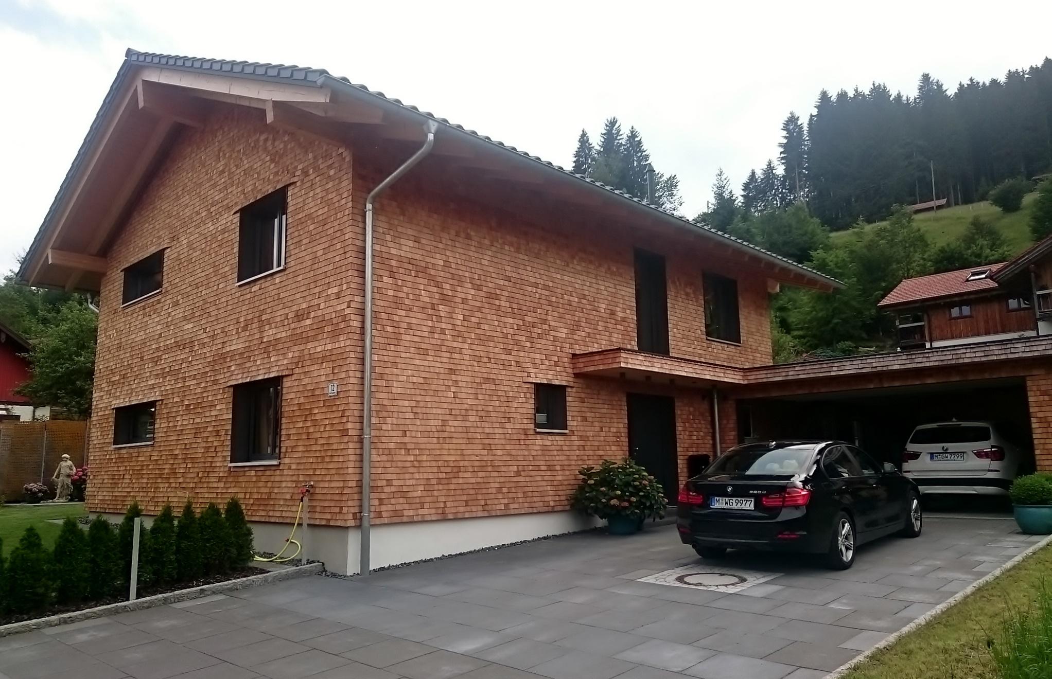 Fertigstellung, Einfamilienhaus in Oberstaufen