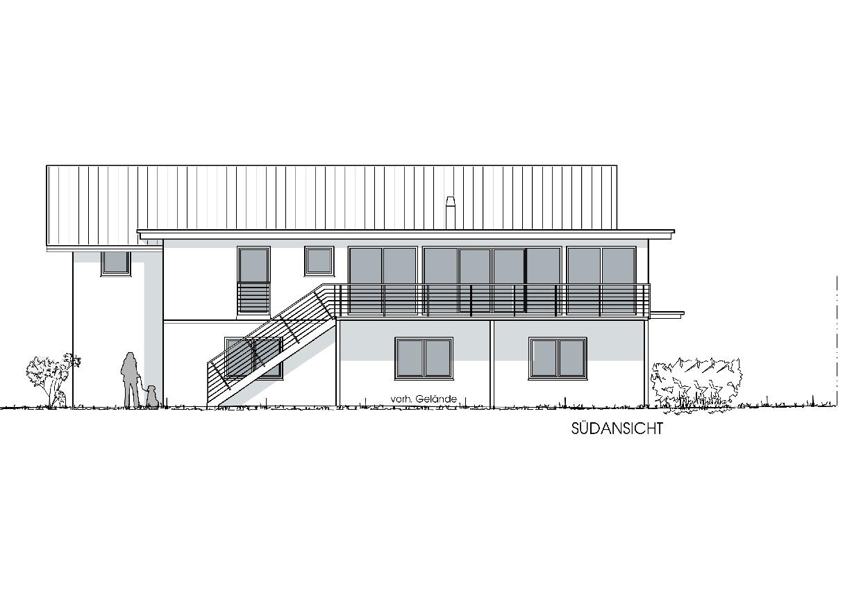 Neubau Wohn- und Geschäftshaus in Heimenkirch - Südansicht