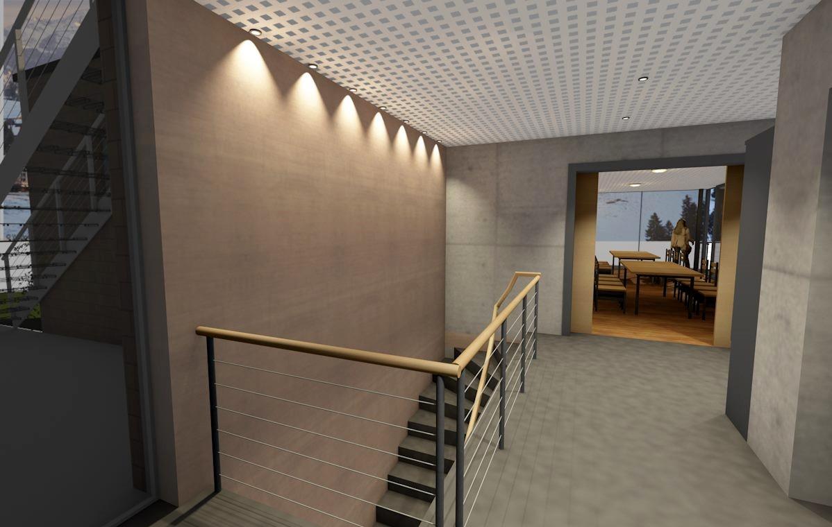Visualisierung, Innenansicht, Anbau an Beherbergungsbetrieb in Scheidegg