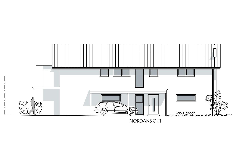 Neubau Wohn- und Geschäftshaus in Heimenkirch - Nordansicht