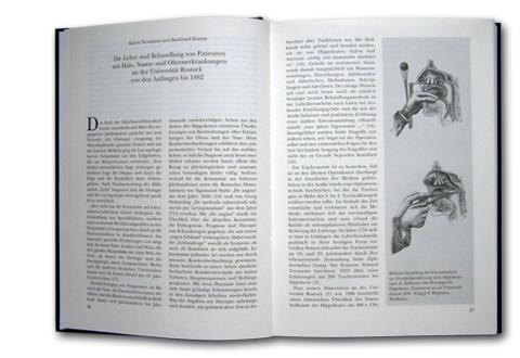 Buchseite 100 Jahre Universitäts-HNO-Klinik Rostock, Verlag Matthias Oehmke