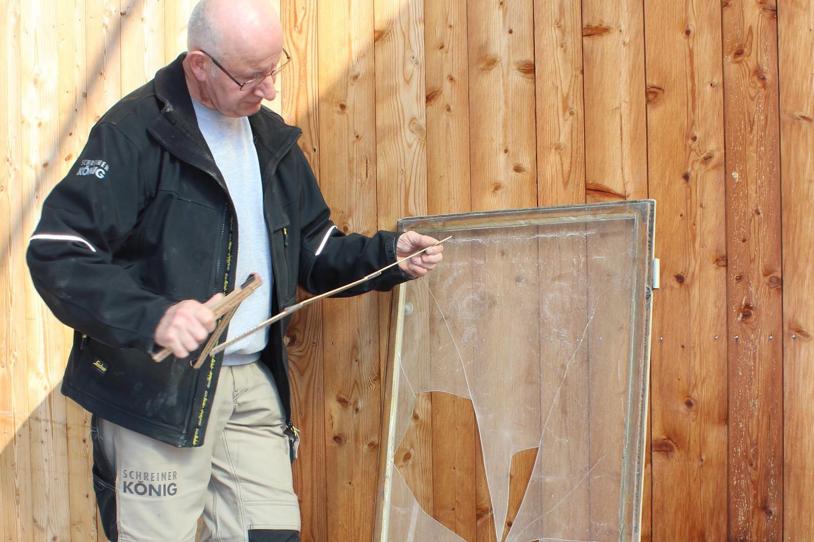 Sofort-Reparatur zum Beispiel bei Glasbruch.