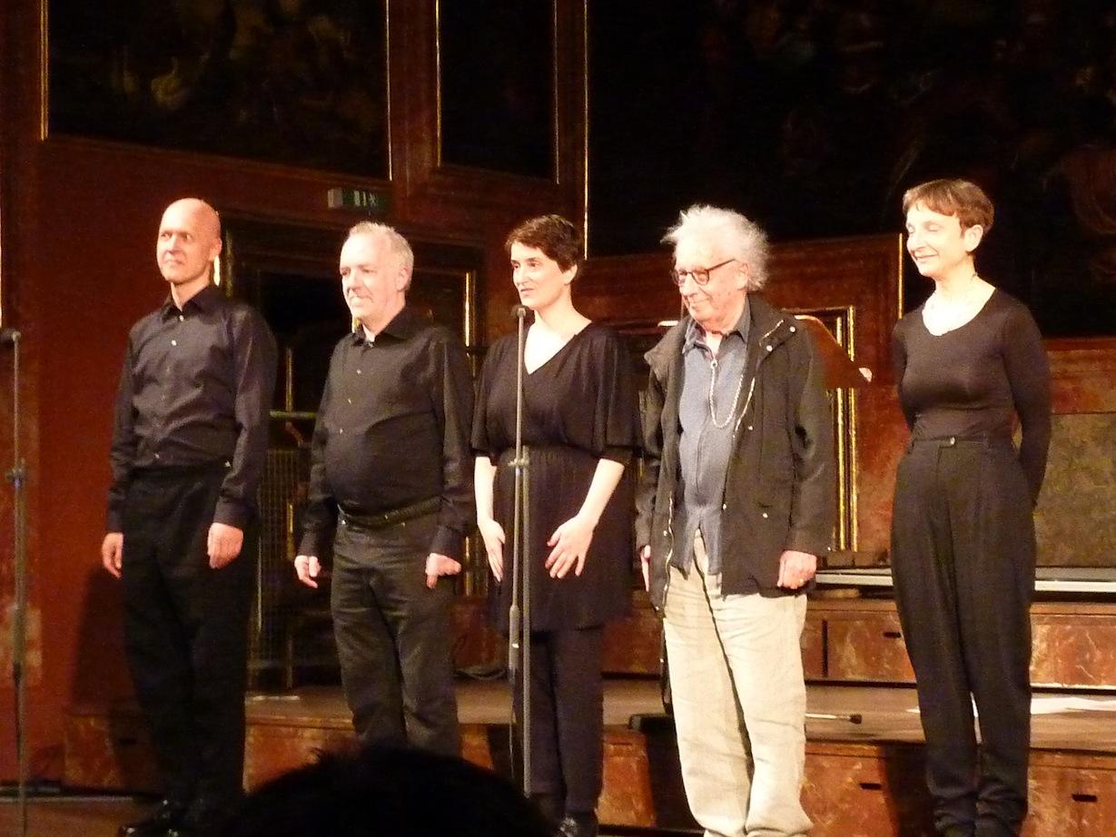 Christian Kesten, Michael Hirsch, Steffi Weismann, Dieter Schnebel, Ariane Jeßulat © D. Mayer