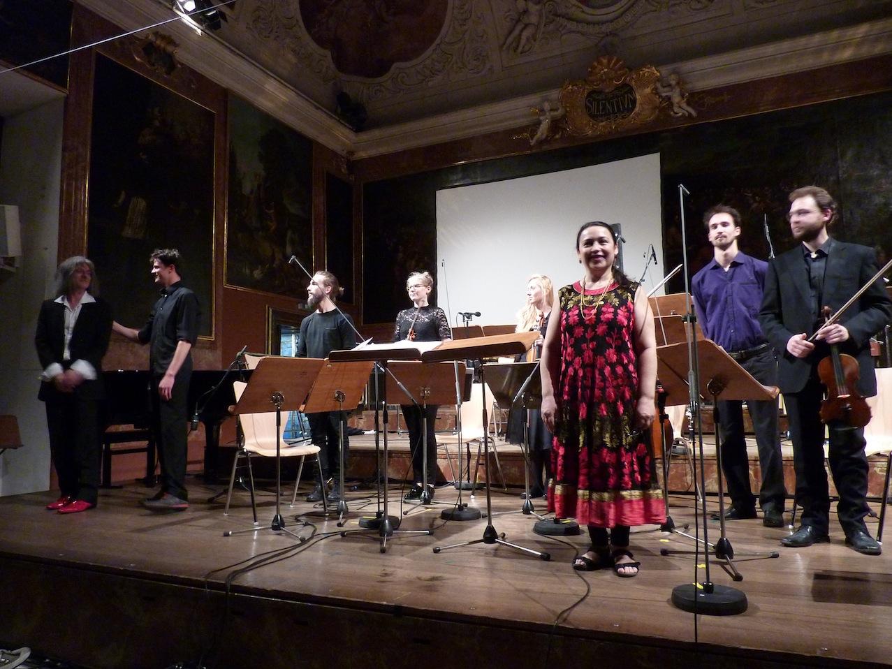 Clemens Nachtmann, Leonhard Garms, Ensemble Schallfeld, Katia Guedes © D. Mayer