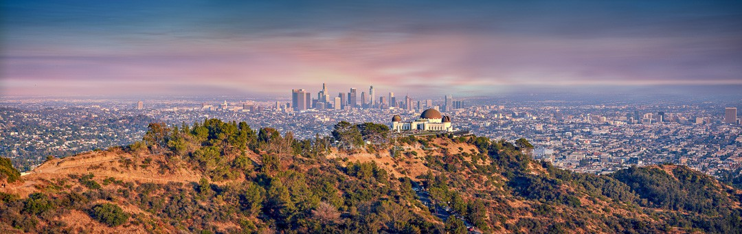 LA with Griffith Observatory 01