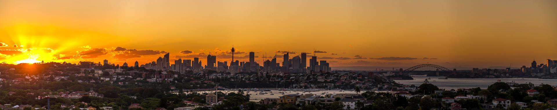Sydney Skyline Panorama 19 04