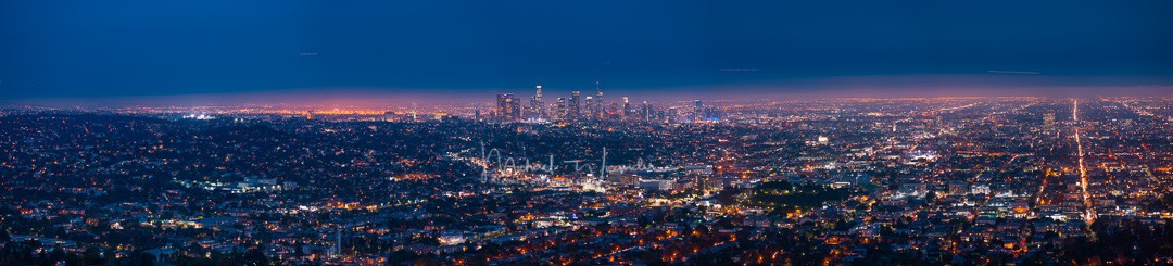 LA with Griffith Observatory 06