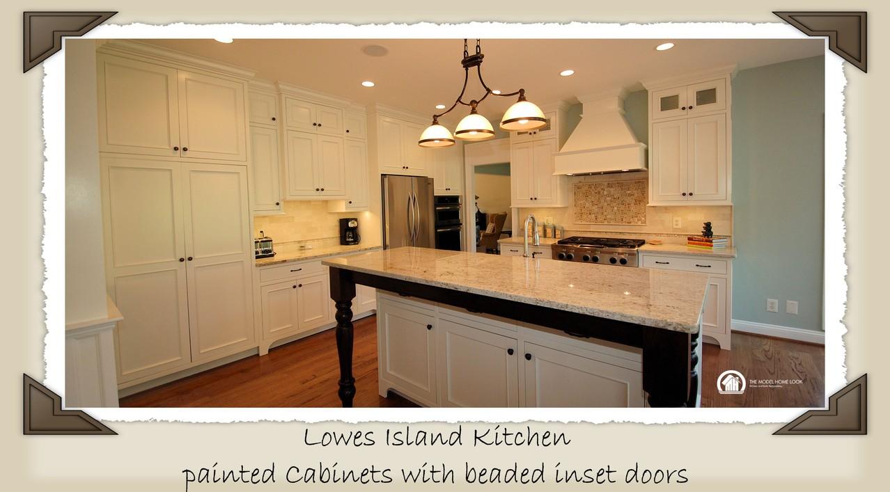 Lowes island va custom kitchens baths