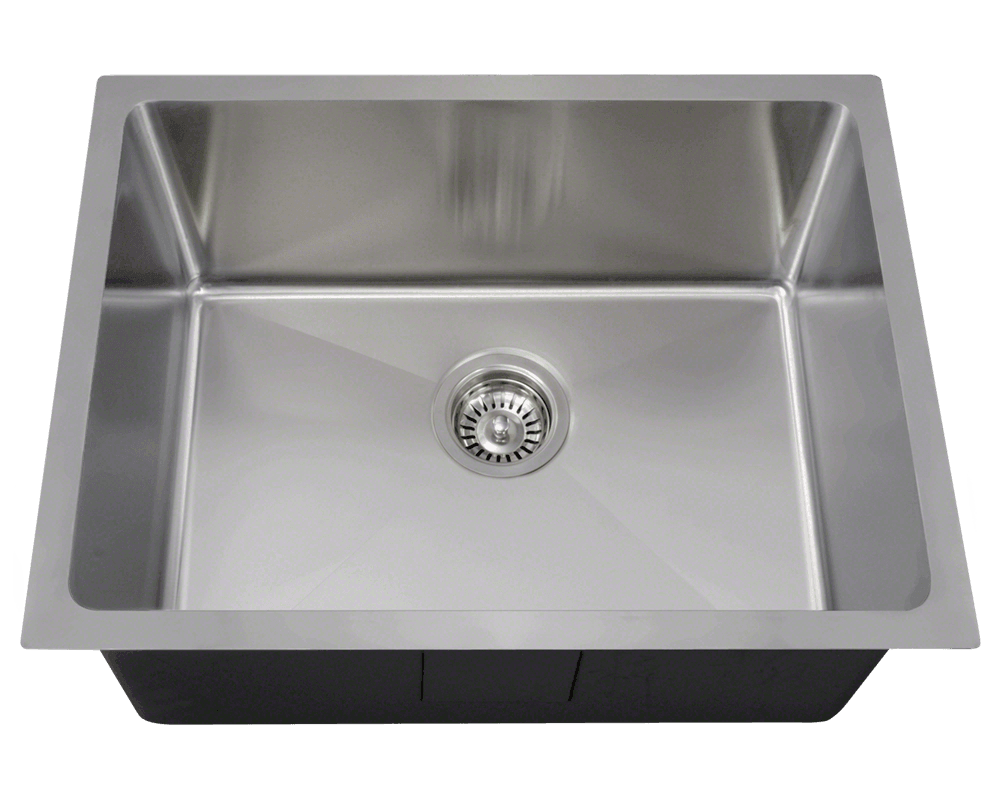 Undermount Stainless Steel Single Bowl 3 4 Radius Kitchen Sink