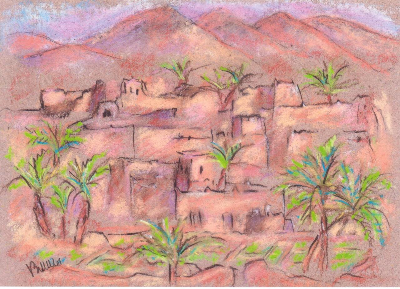 Sud marocain -Pastel - Réf MRC022