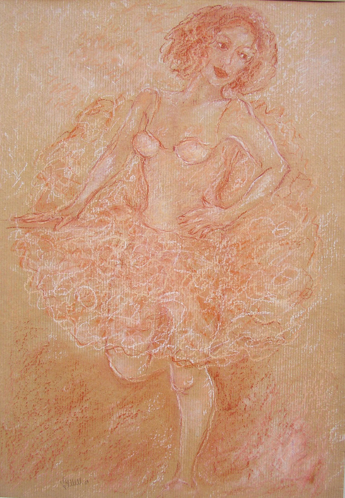 Danseuse, sanguine (original vendu) - réf 010 : vente reproduction