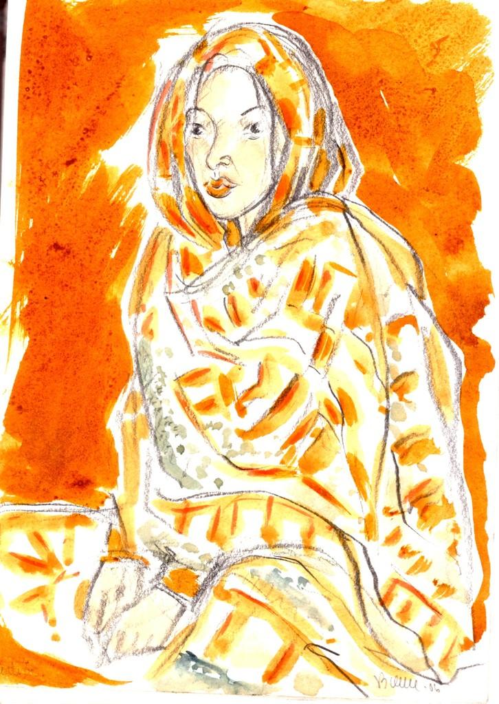 Femme berbère du sud - (dans carnets) réf MRC023 :