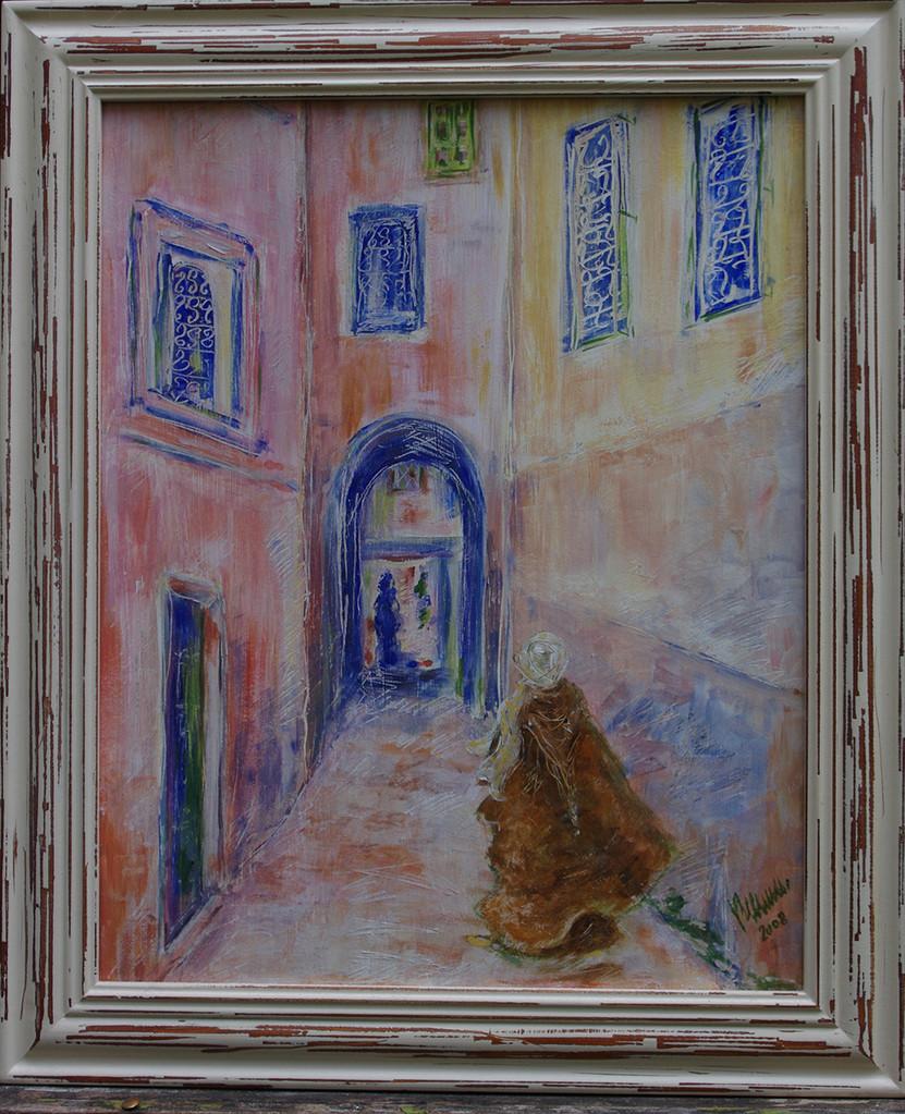 Marrakech, acrylique - 50X40 cm, ORIGINAL DISPONIBLE - réf MRC001