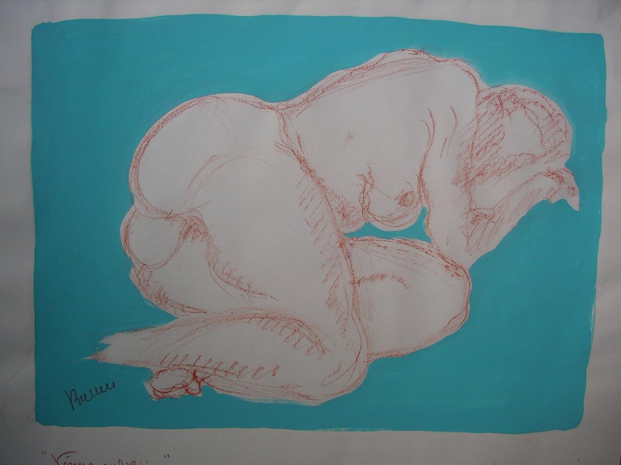 Vénus préhistorique ORIGINAL DISPONIBLE - réf NU 017 - (pas de repro)
