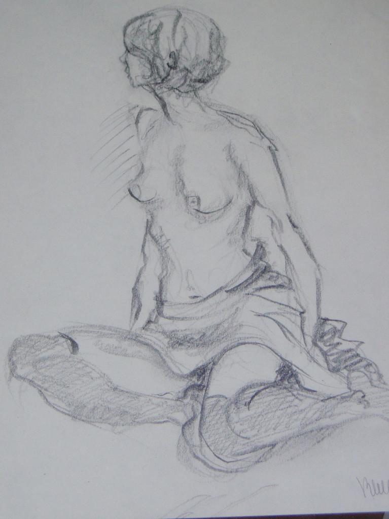 Etude au crayon (original vendu) - réf 020 -(pas de repro)