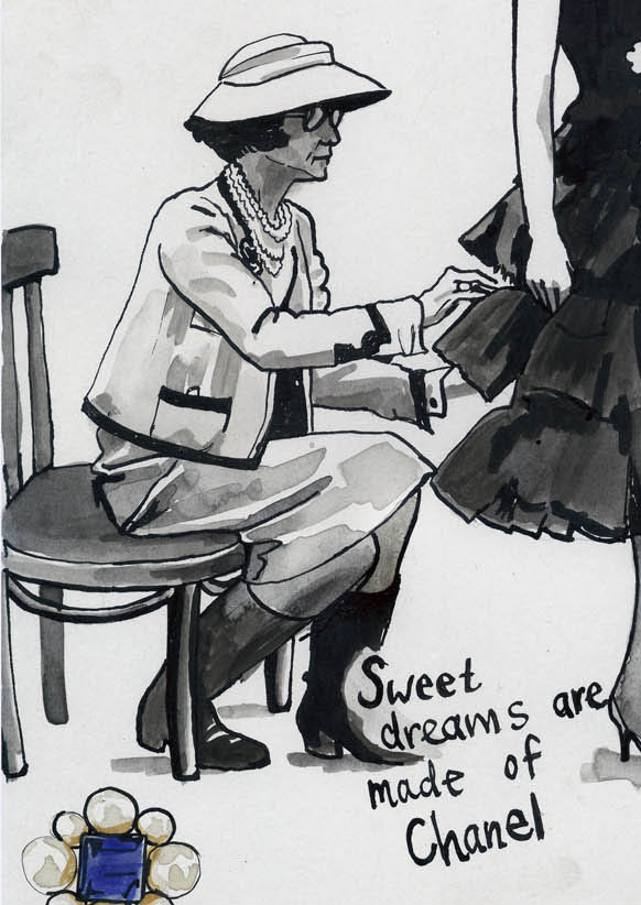 Detail of illustration: 'Sweet dreams are made of Chanel'