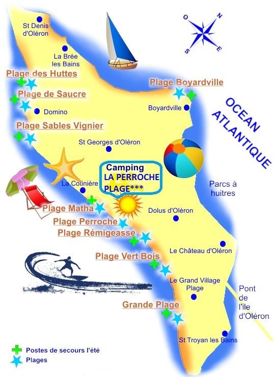 Ile d Oléron carte des plages