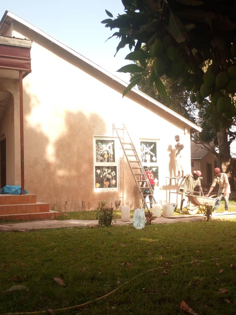 Fassadenarbeiten.