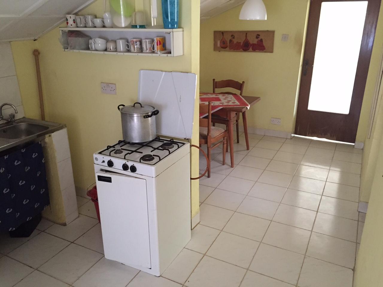 Küche mit Blick zu Essecke