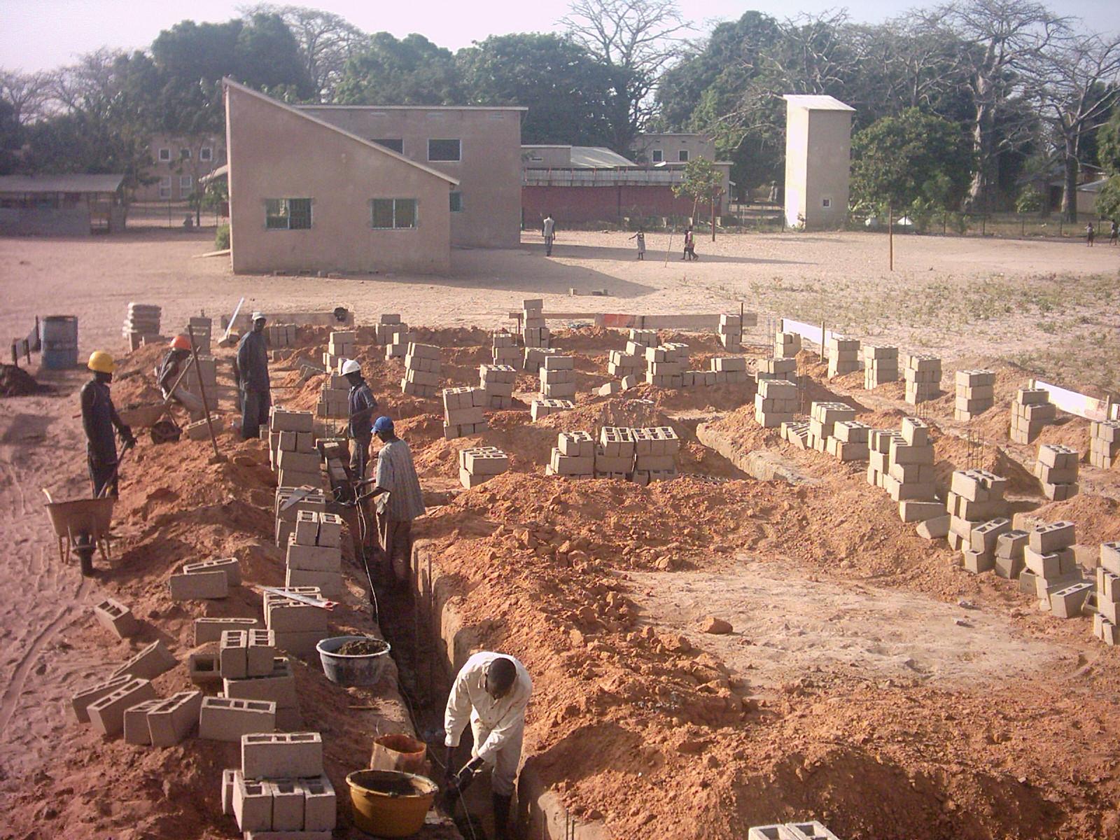 Fundament für 2. Schulgebäude