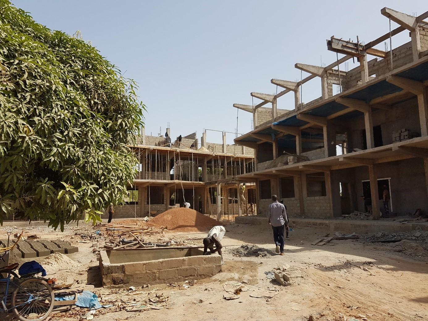 Bau der Upper Basic School