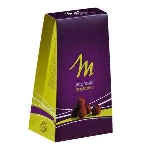 Truffes chocolat Mathez : crêpe dentelle, caramel au beurre salé