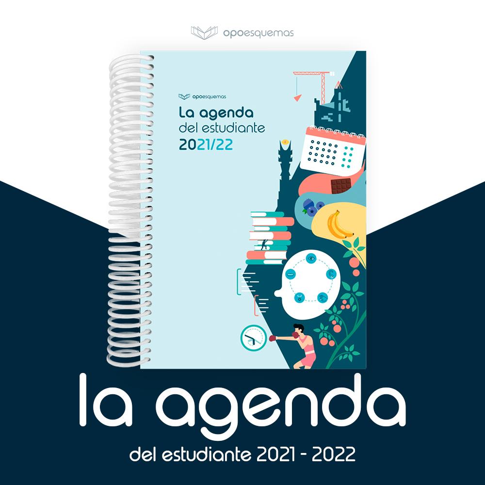 Agenda del estudiante de oposiciones 2022. OpoEsquemas