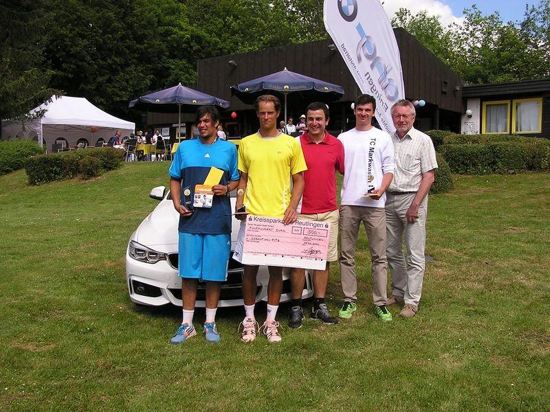 Tony bei der Siegerehrung des Head Cup in Reutlingen