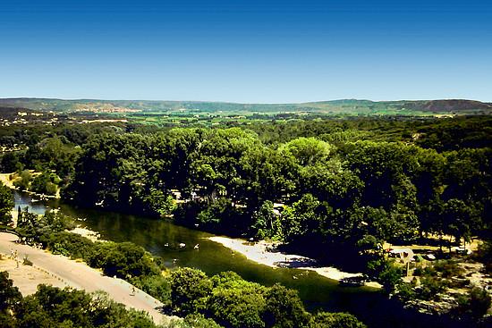 Blick vom Pont du Gard