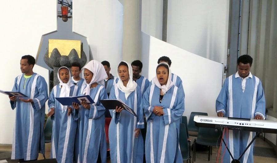 Der eritreische Jugendchor