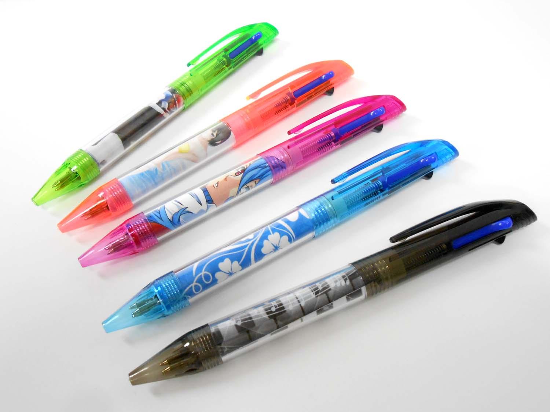 カラフルな3色ボールペンデザイン紙入り