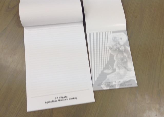 メモ帳はもちろんノート、便箋などオリジナル