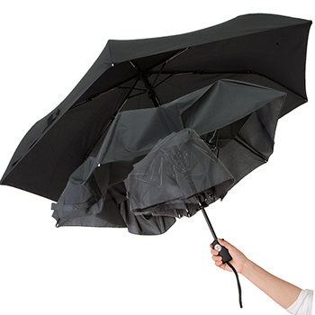 自動で開閉するボタン式の折りたたみ傘です