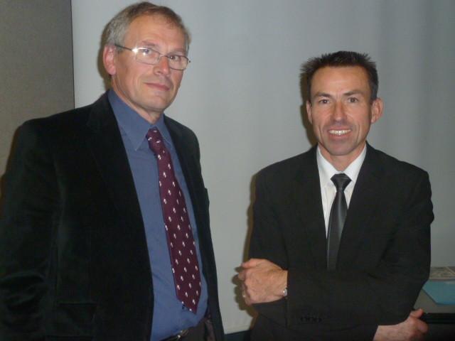 Didier Marchand, l'ancien Président et Thierry Pressard, le nouveau Président