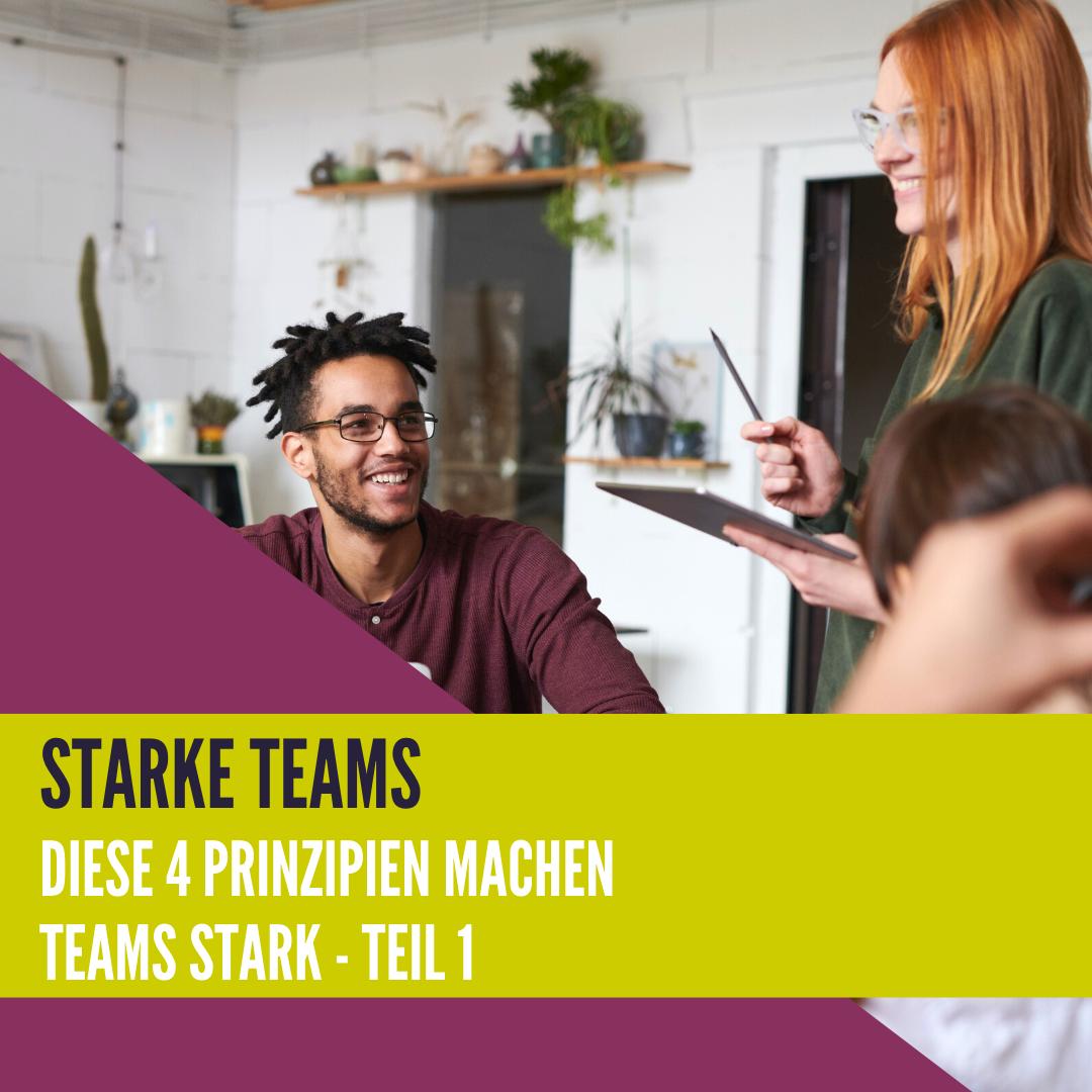 Starke Teams - Diese 4 Prinzipien machen Teams stark || Teil 1