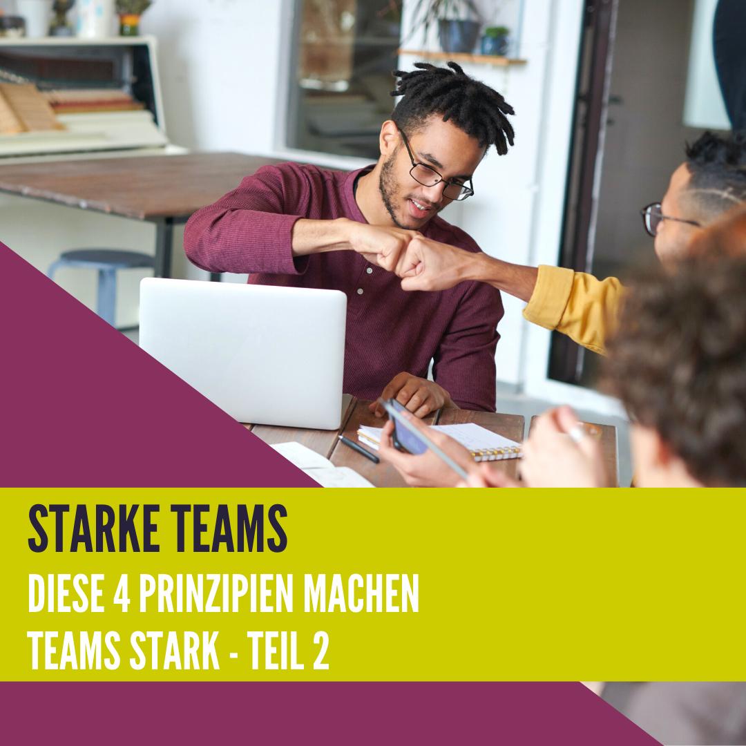 Starke Teams - Diese 4 Prinzipien machen Teams stark || Teil 2