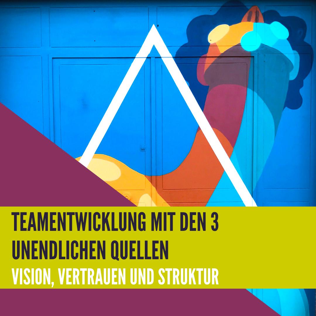Teamentwicklung mit den 3 unendlichen Quellen - Vision, Vertrauen und Struktur
