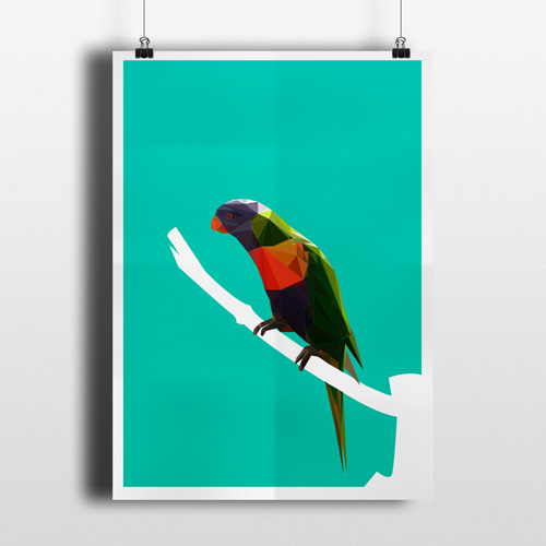 Plakat Vogel