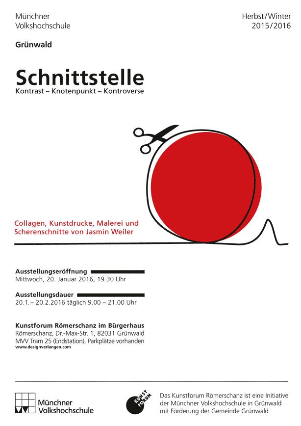 Designverlangen - Ausstellung: VHS Grünwald, Kunstforum Römerschanz im Bürgerhaus, Plakat