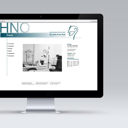 HNO Praxis - Webauftritt