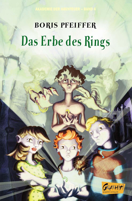 """Cover für """"Akademie der Abenteuer - Band 4"""" von Boris Pfeiffer, Graphiti-Verlag, Berlin."""