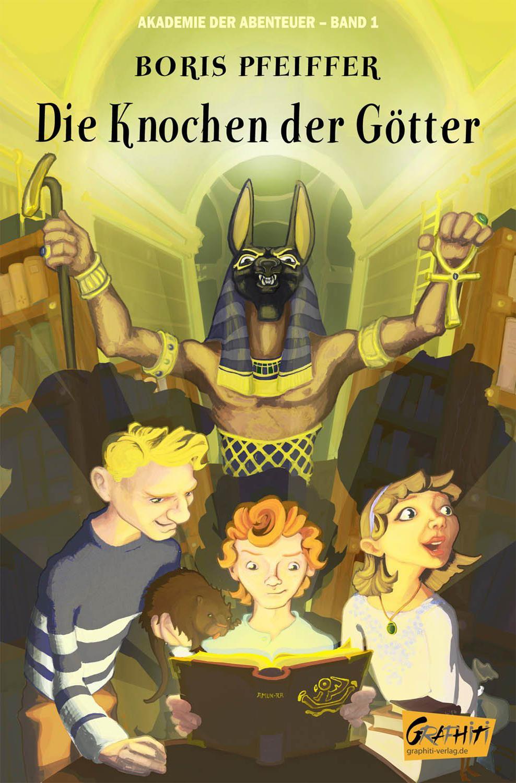 """Cover für """"Akademie der Abenteuer - Band 1"""" von Boris Pfeiffer, Graphiti-Verlag, Berlin."""
