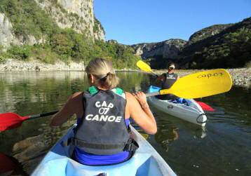 l'ardeche en canoe en  3 jours  -pont d'arc- reserve naturelle