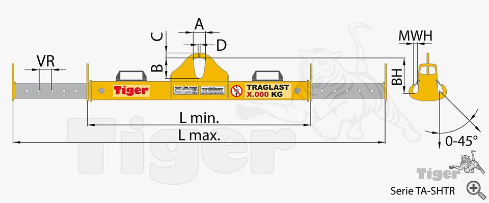 Kran Lasttraverse TA-SHTR - Zeichnung