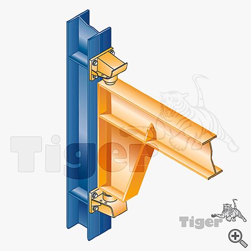 Wandkonsole an Stahlstütze
