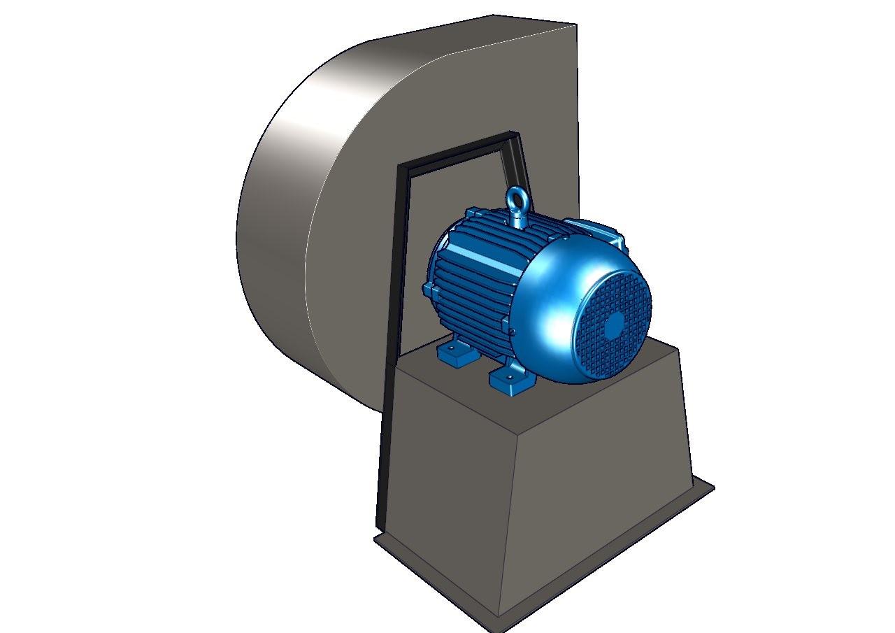 turbina centrifuga tipo jaula de ardilla