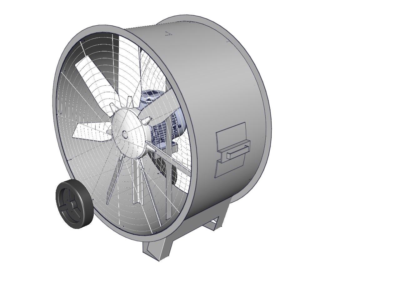 circulador de aire industrial portatil