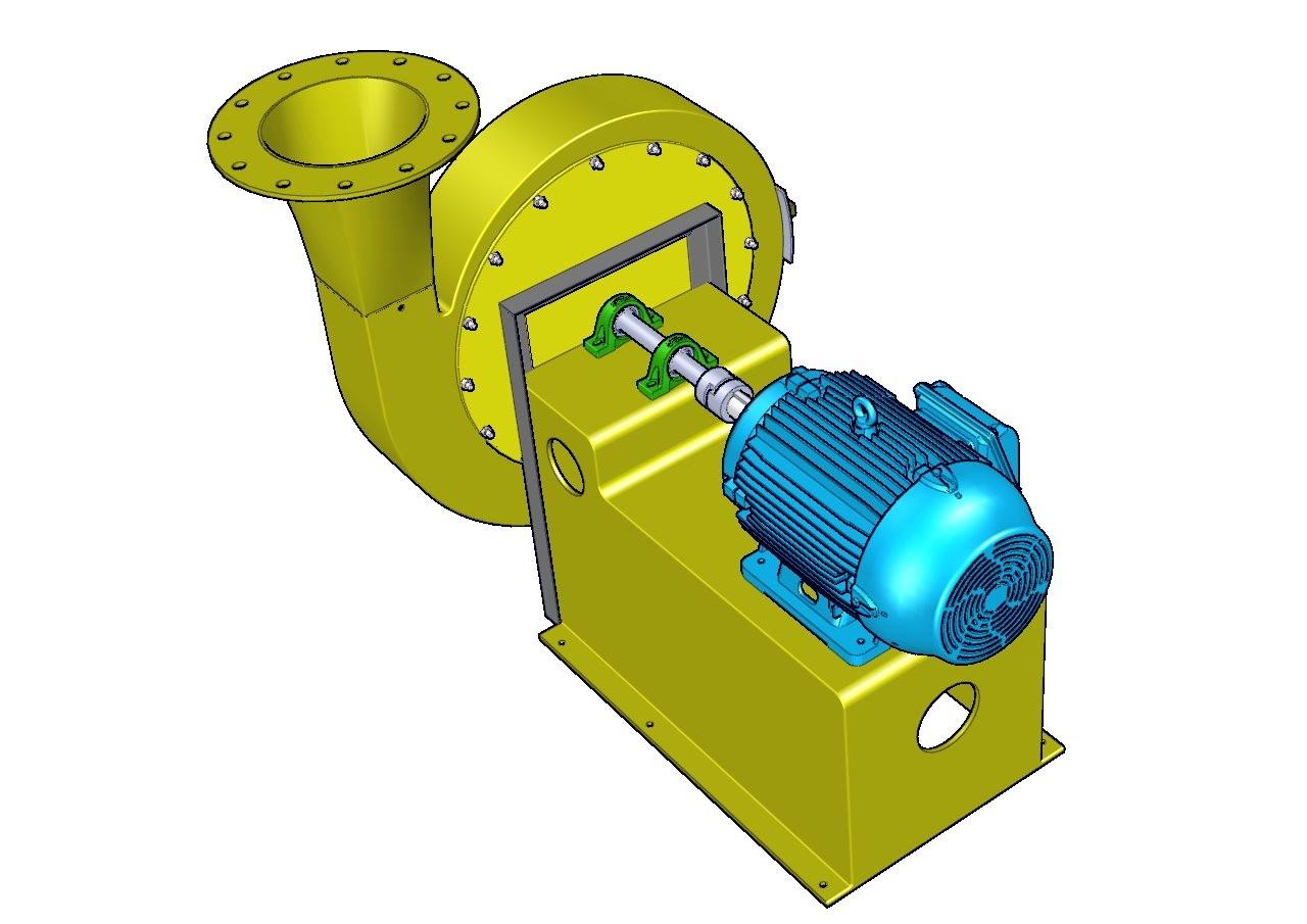 ventilador industrial centrifugo acople directo