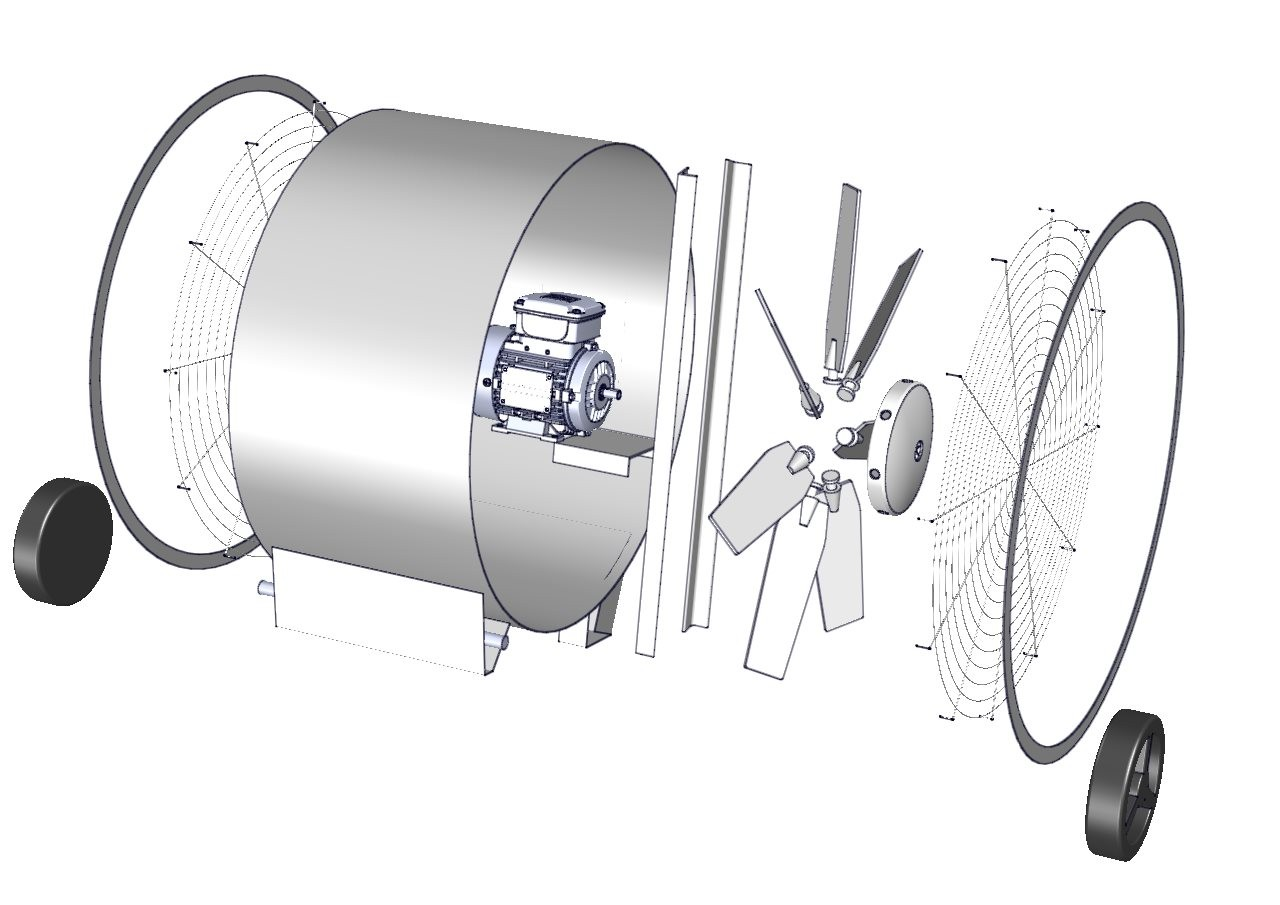 planos de ventilador industrial circulador en mexico
