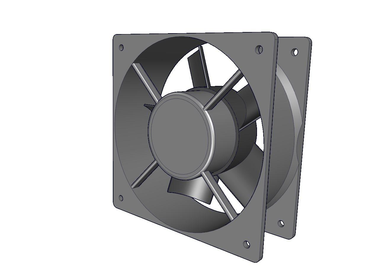 ventilador cuadrado metalico